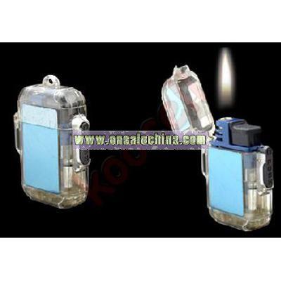 Pocket Refillable Gas Windproof Cigarette Cigar Lighter Blue