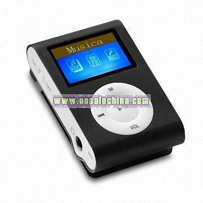 Flash MP3 Player with Single Color Backlight and FM Radio