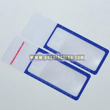Bookmark Magnifier with Clip and Ruler