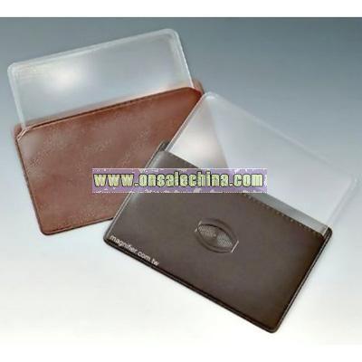 Rigid Acrylic Credit Card Fresnel Lens with case