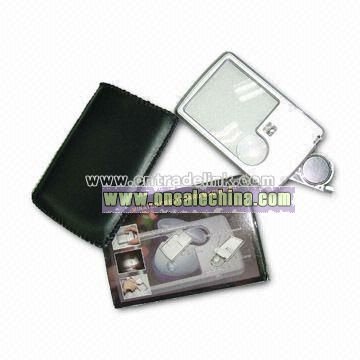 Magnifier with LED, in Credit Card Shape