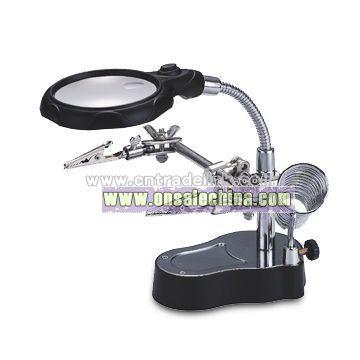 Desktop LED Magnifier with Cast Iron Base