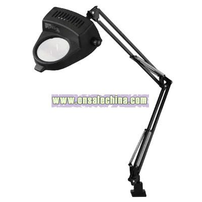Light Magnifier Lamp with Clamp in Black