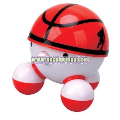 Backetball shaped mini massager