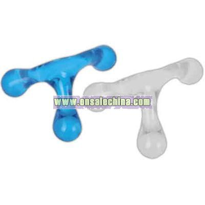 Translucent three legged massager
