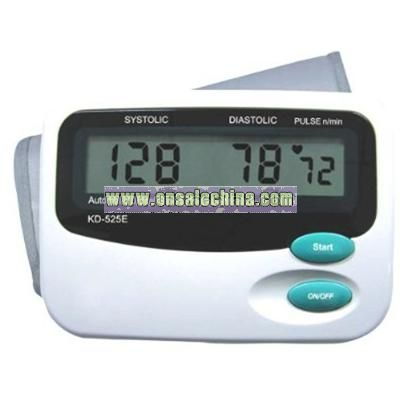 Medical Automatic Digital Arm Cuff Blood Pressure Monitor with Large LCD Display