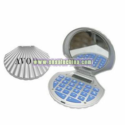 Shell Shaped Calculator With Mirror