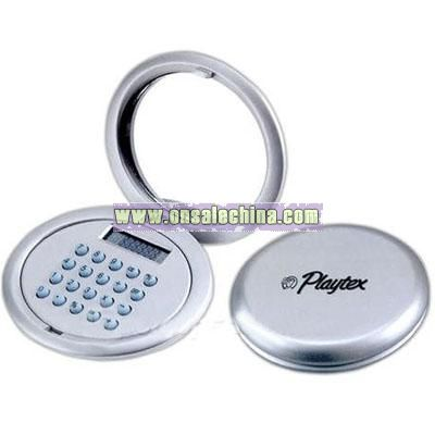 Two-in-one compact mirror & calculator