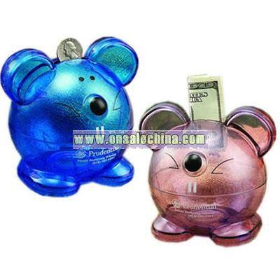 Plastic mouse bank
