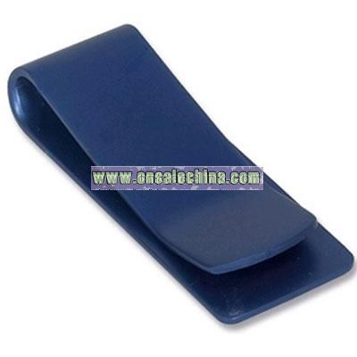 Dark Blue Aluminium Money Clip