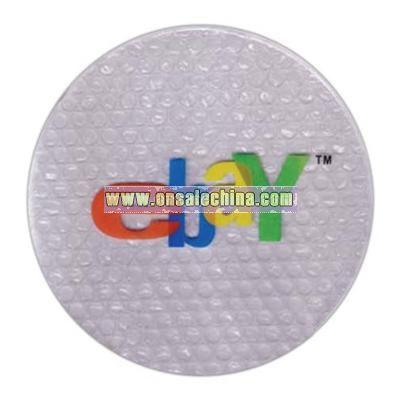 Translucent bubble wrap mouse pad