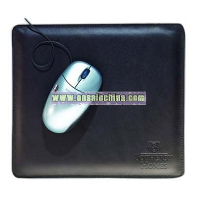 Regency cowhide leather mouse pad