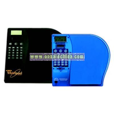 Mouse pad with dual power 8 digit calculator