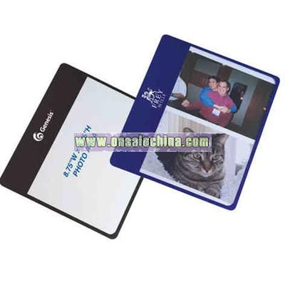 Flip flap photo mouse pad with thin rubber back