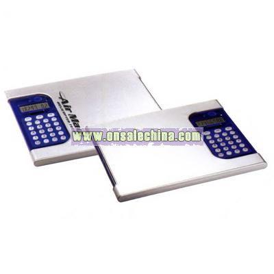Aluminum mouse pad/calculator