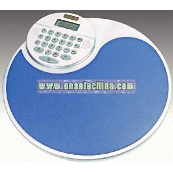 8 digit dual power optional rotating calculator mouse pad