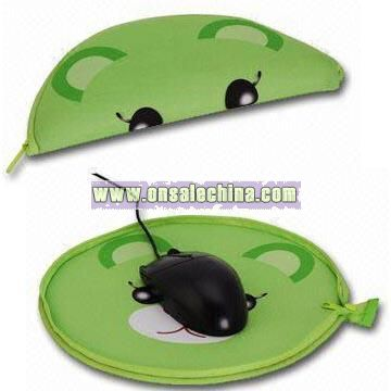 Neoprene Pen Cases and Mouse Pads With Zipper