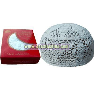 Hand Crocheted Muslim Prayer Cap