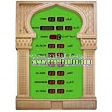 LED Muslim Clock