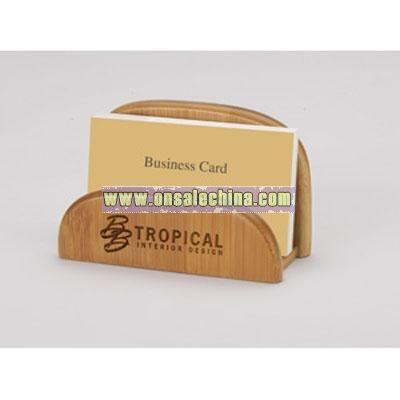 Garde Bamboo Business Card Holder