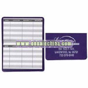 Bank Card Register Card