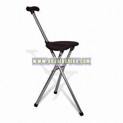 Aluminum Tripod Seat Cane Crutches