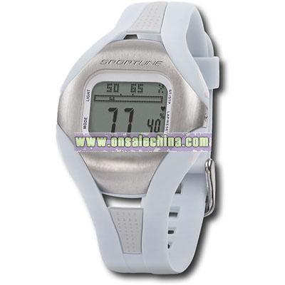 Sportline - Solo Digital Pedometer Heart Rate Watch for Women - Light Blue