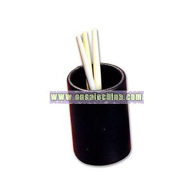 Bonded leather pencil cup