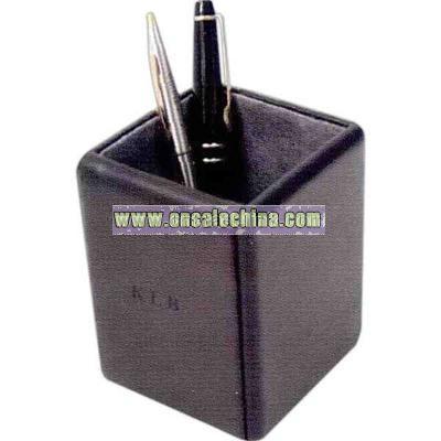 Leather pen/pencil holder