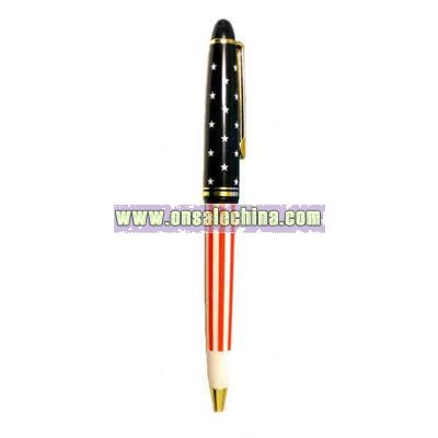 Patriot click action ballpoint pen with gold trims