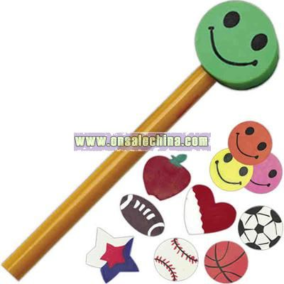 Basketball - Blank pencil crown that tops off a pencil