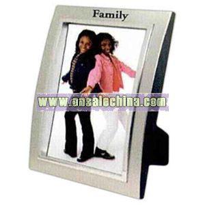 Metallized plastic frame