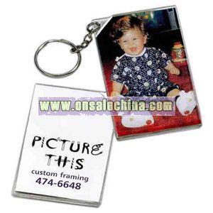 Miniature photo frame key tag