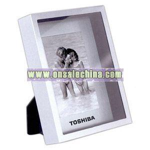 Acrylic front Brushed aluminum back photo frame
