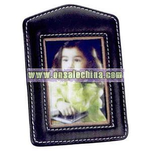 Nappa leather photo frame