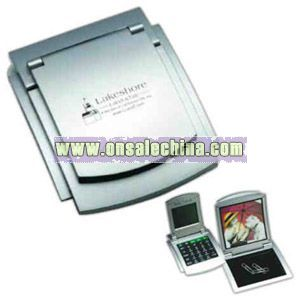 Metal photo frame with Calculator and world time alarm clock