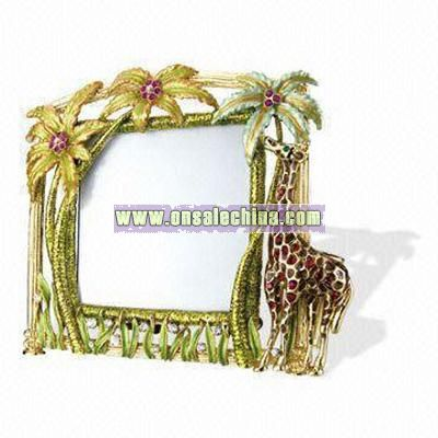 Giraffe Image Metal Photo Frame