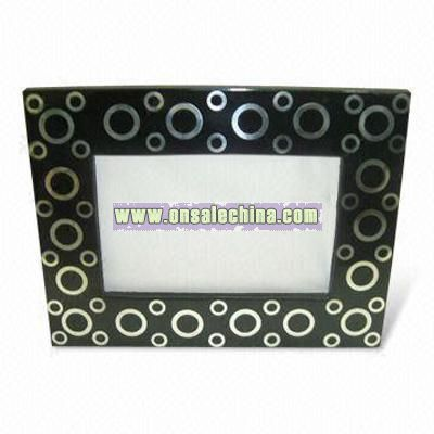 Handcrafted resin metal inlay frame