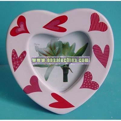 Heart Shaped Ceramic Photo Frame