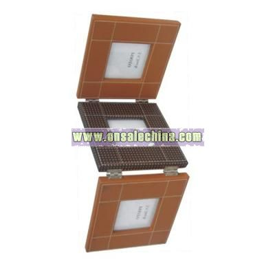 PU Leather Folded Photo Frame