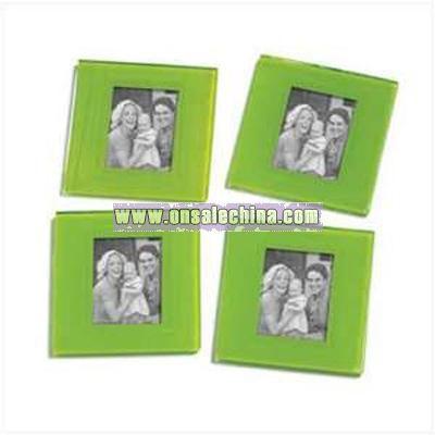 Green Photo Frame Coasters