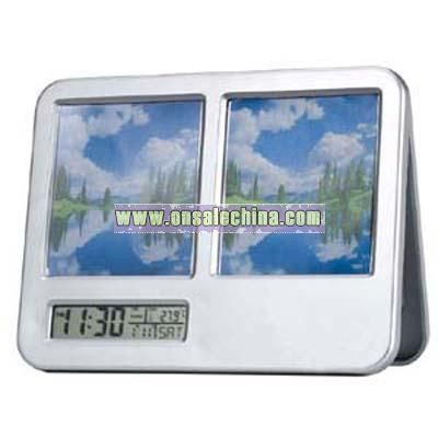 LCD Calendar clock Temperature with Photoframe