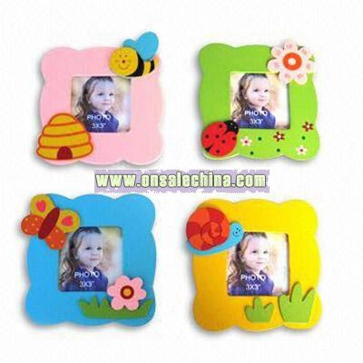 Insect Design Wooden Photo Frame