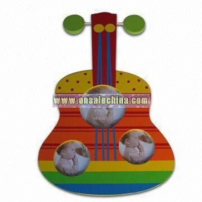 Guitar Design Wooden Photo Frame