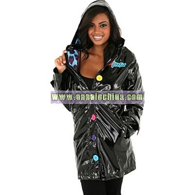 Shiny black rubber rainwear - Search Results
