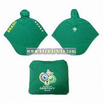 Children's Polyester or Nylon Poncho with Attached Hood