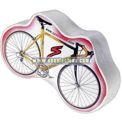 bicycle shaped compressed t-shirt
