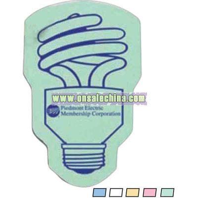 Energy saving light bulb shaped compressed sponge