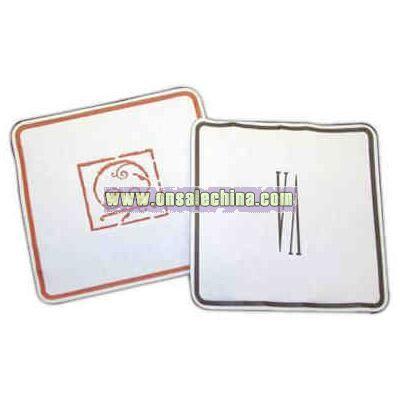 Soft square compressed tissue square debossed coaster