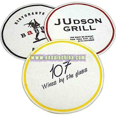 compressed 7-ply tissue round embossed coaster